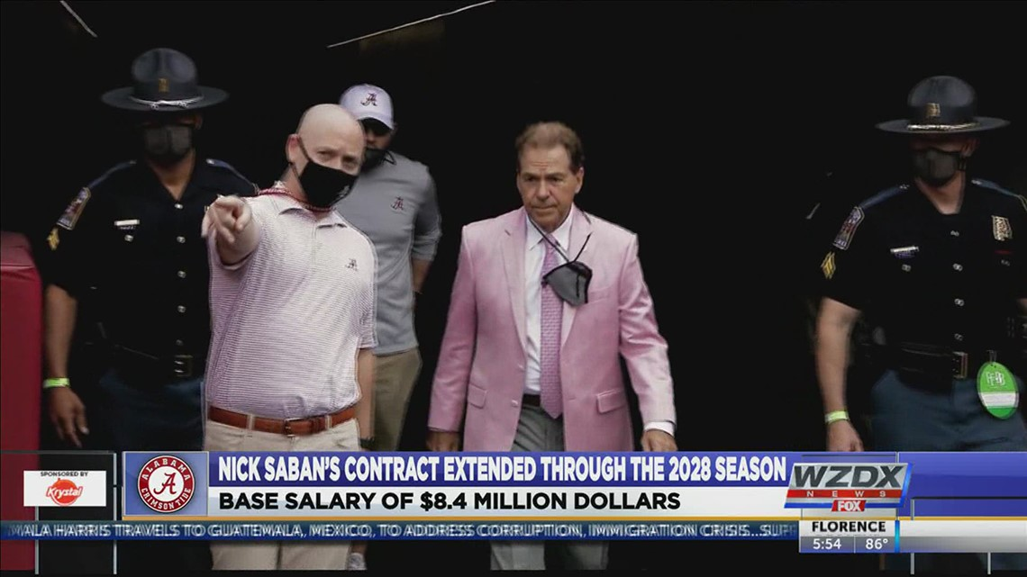 Nick Saban earns contract extension from Alabama; will be in Tuscaloosa through 2028 season