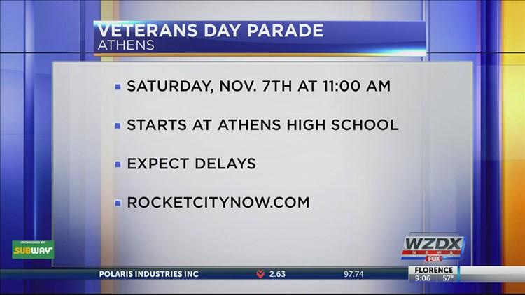 Athens Veterans Day Parade Saturday, Nov. 7