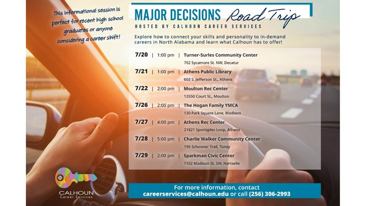 Making a major decision in your life? These Calhoun Community College workshops may help.