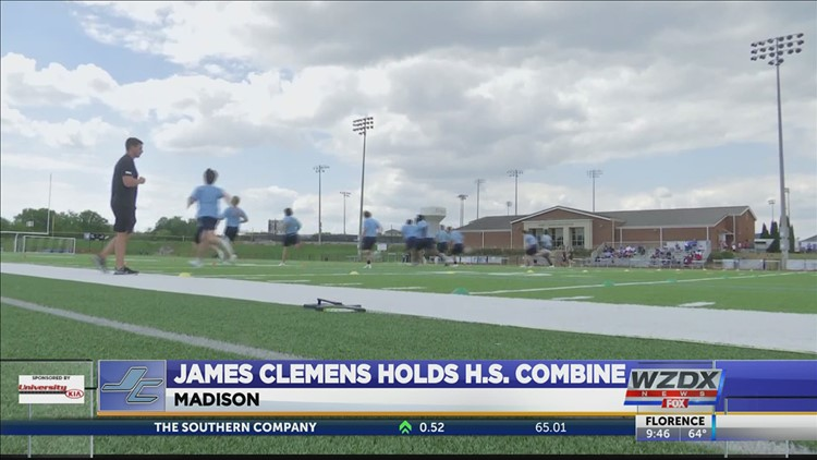 James Clemens hold high school combine current players and future players