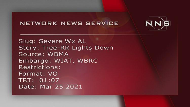 Shelby County, Alabama, storm damage March 25
