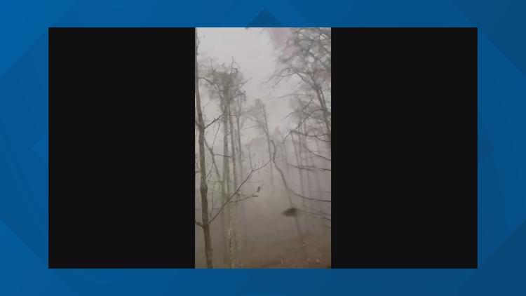 Tornado moves through Indian Springs, Alabama