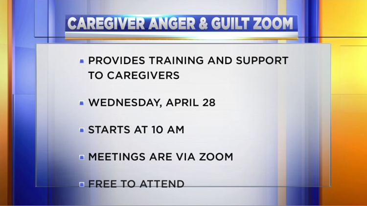 Virtual training and support group for caregivers