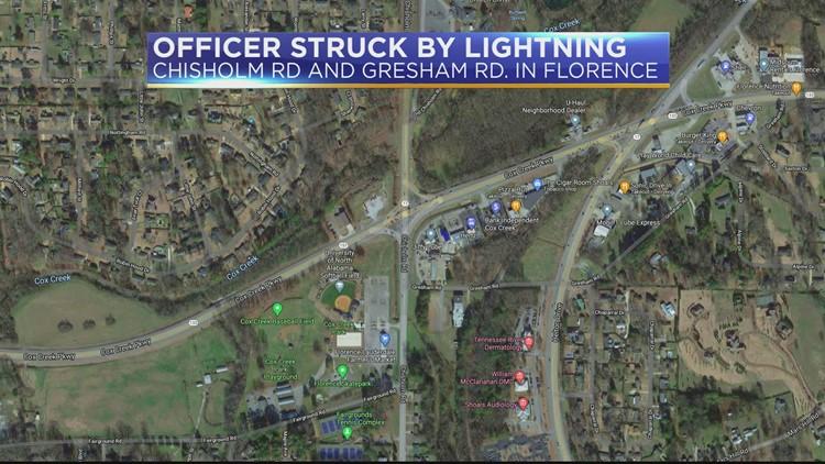 Florence police officer struck by lightning