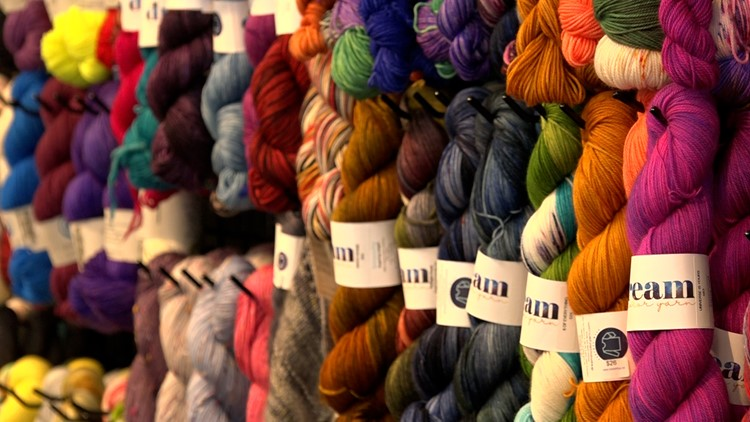 Local business gives back by knitting for food