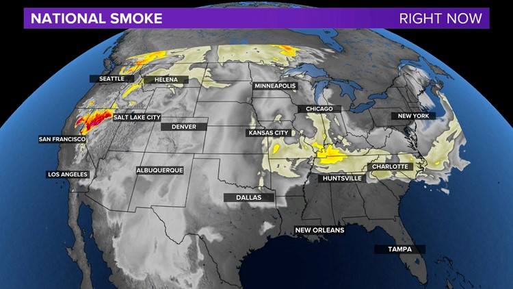 A Hazy Sky caused by Wildfires in the West