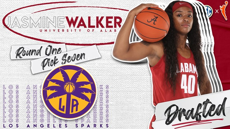 Jasmine Walker selected seventh overall in 2021 WNBA Draft by LA Sparks
