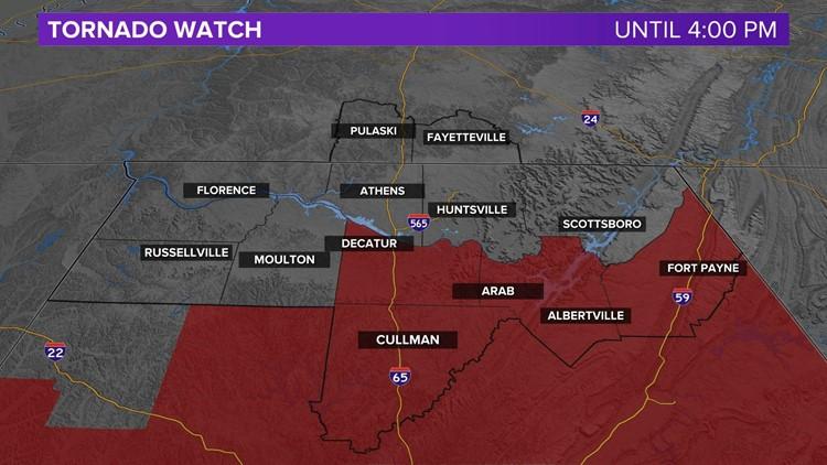Tornado Watch in effect until 4 PM