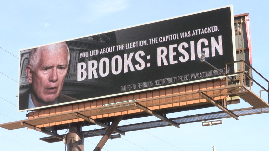 Billboard ads in Madison County demand Rep. Mo Brooks to resign