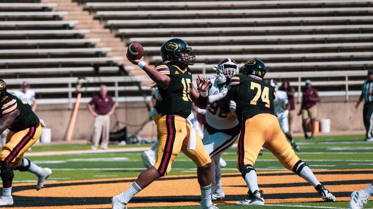 Grambling forces six turnovers and upsets Alabama A&M, 37-28