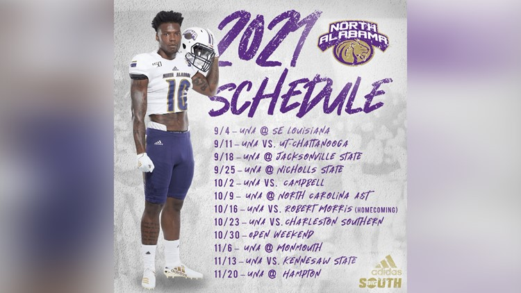 UNA unveils fall 2021 football schedule