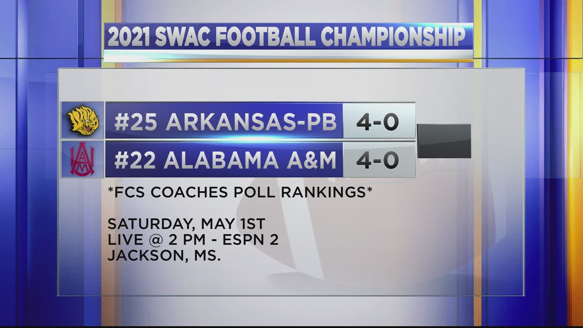 Alabama A&M will face UAPB in Jackson, Mississippi for the 2021 SWAC Championship