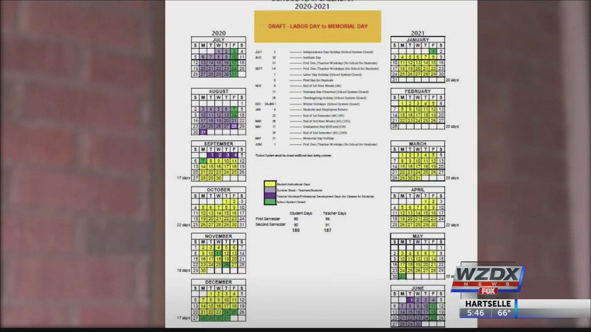 Proposed school calendar prompts Huntsville City Schools to call