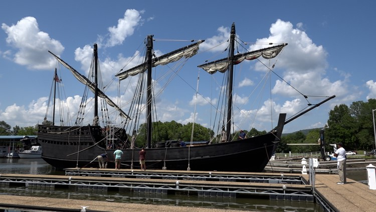 The 'Pinta' is docked at Ditto Landing!