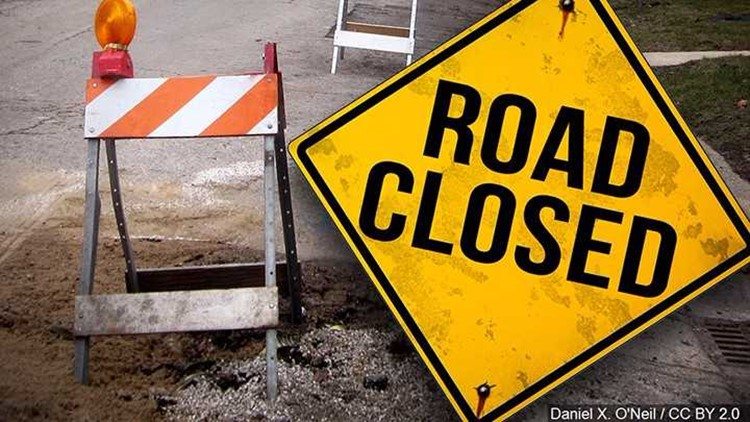 Madison roadway closed due to downed power lines