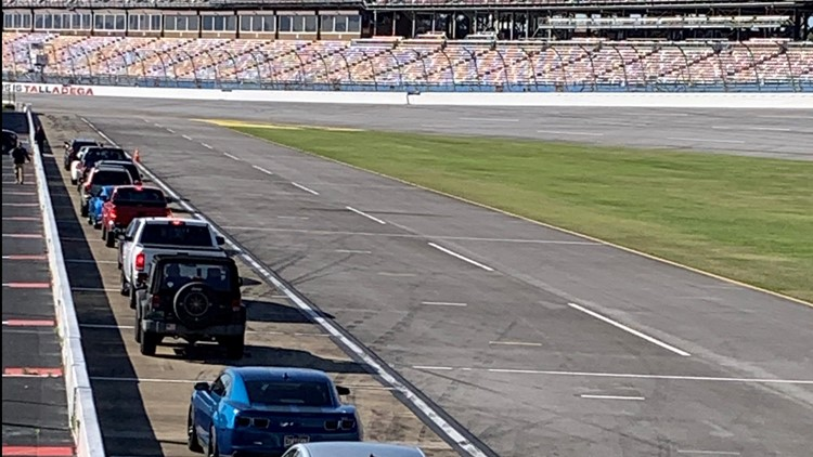 Get a COVID test or vaccine, take laps around Talladega Superspeedway