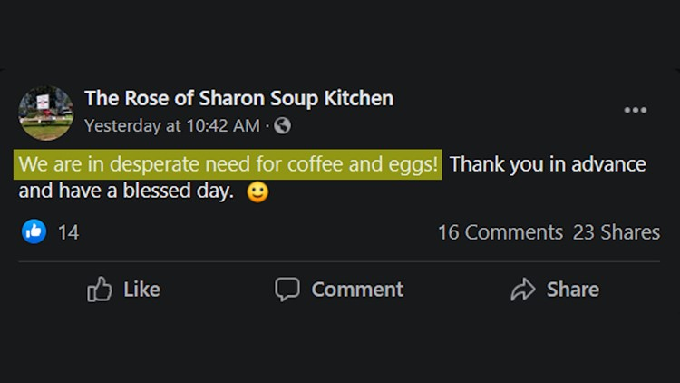 Local soup kitchen needs coffee!