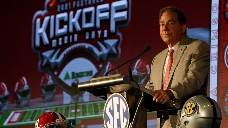 Alabama takes part in 2021 SEC Football kickoff Media Days