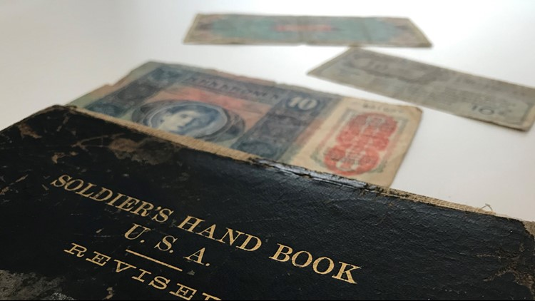 1901 Soldier's Hand Book, filled with money, found in Michigan man's estate